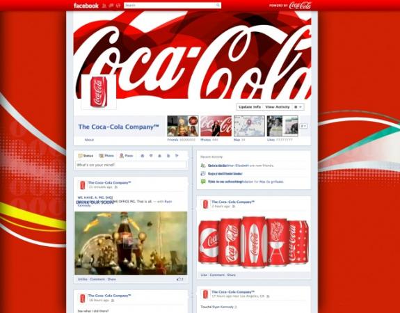 Creative Facebook brand page